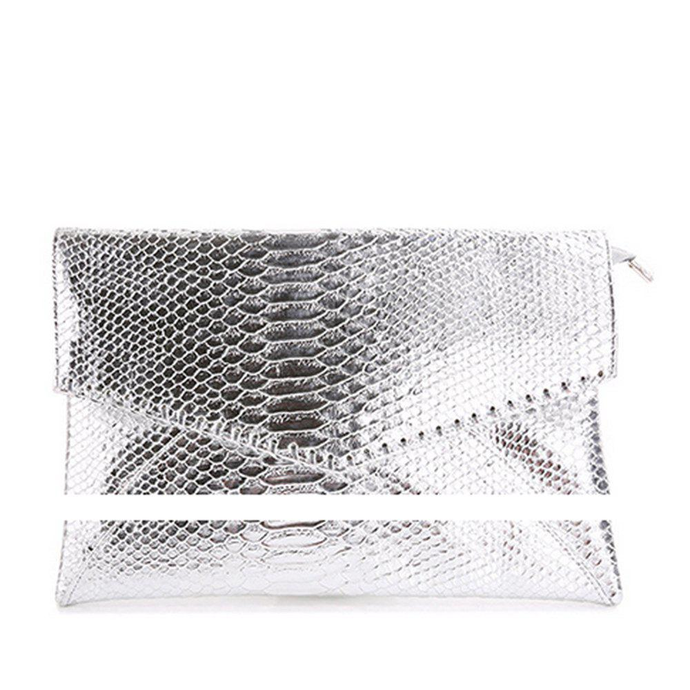 Women's Clutch Bag Night Party Style All Match Envelope Bag - SILVER