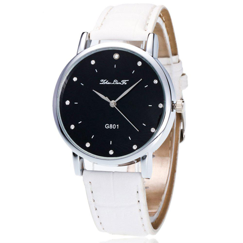 ZhouLianFa New Trend Outdoor Foot Pattern Men and Women Quartz Watch - WHITE