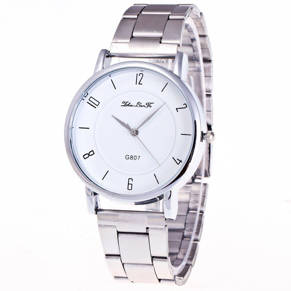ZhouLianFa Casual Simple Luxury Steel Silver Business Quartz Watch - SILVER