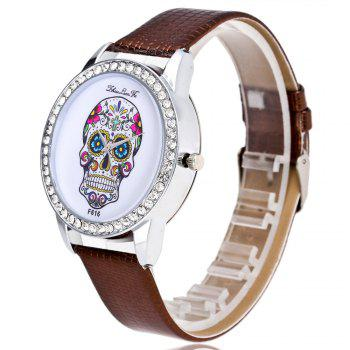 ZhouLianFa New Trendy Business Luxury Brand Fashion Crocodile Quartz Watch - COFFEE