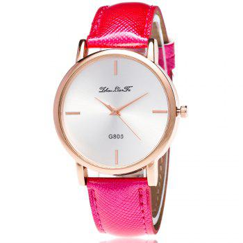 ZhouLianFa New Trend of Outdoor Crystal Grain Quartz Watch - ROSE RED ROSE RED