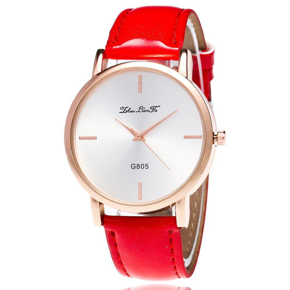 ZhouLianFa New Trend of Outdoor Crystal Grain Quartz Watch - RED