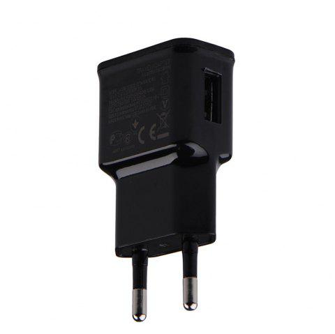 EU Plug Adapter 5V 2A USB Mobile Phone Wall Charger for Huawei / Xiaomi / LG / Sony - BLACK