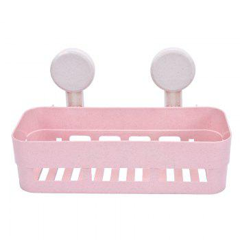 Powerful Suction Cup Wall Mounted Type Bathroom Shelf - PINK