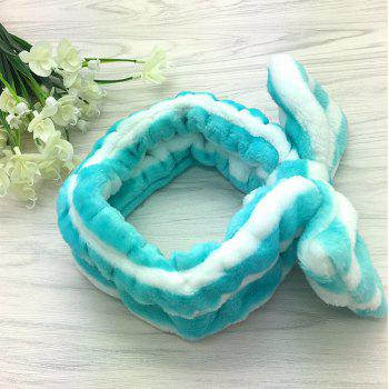 Bathing Washing Face Hairband - BLUE / WHITE