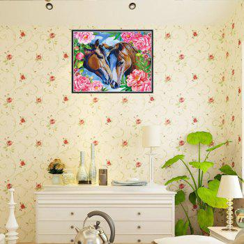 Couples Horse Print Draw dessin de diamant - multicolorcolore