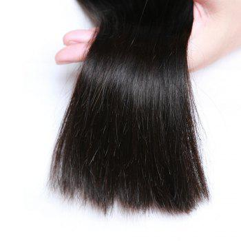 2 Bundle Unprocessed Virgin Indian Straight Human Hair Weaves - Natural Black - NATURAL BLACK 22INCH*24INCH