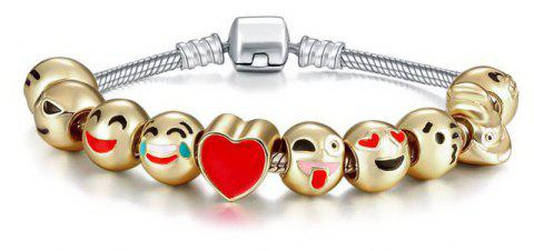 Kit Bracelet Emoji - or rouge 10 CHARM