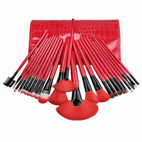 Royal Red Make Up Brush Set
