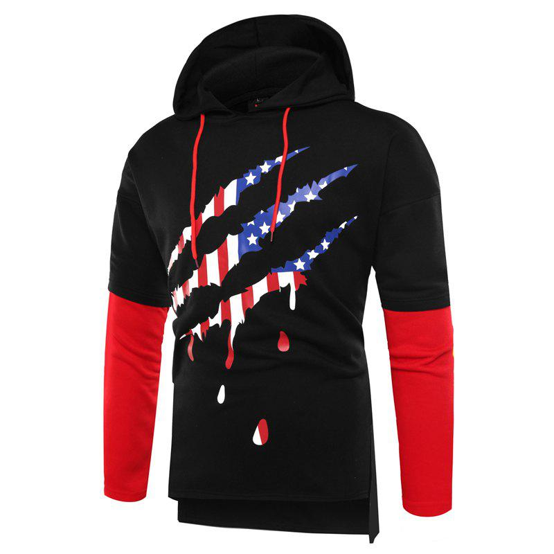 Mode Couture Hommes Hoodie - Noir 2XL