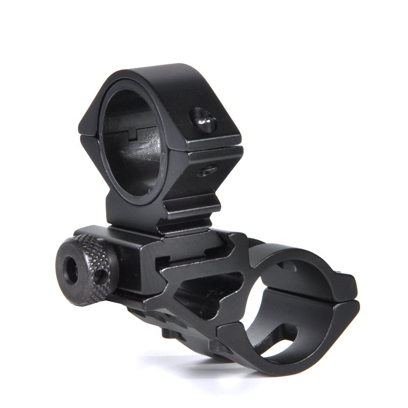 BA1391 Aluminum Flashlight Mount Holder Universal Bicycle Bike LED Light Flashlight Torch Mount Holder Cycling Clip Clam - BLACK