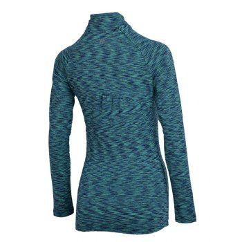 Autumn and Winter New Breathable Yoga Wear Long-Sleeved Sportswear Running Clothes Fitness Clothes - GREEN 2XL