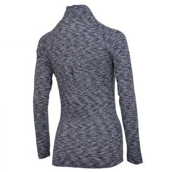 Autumn and Winter New Breathable Yoga Wear Long-Sleeved Sportswear Running Clothes Fitness Clothes - GRAY S