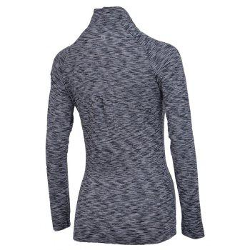 Autumn and Winter New Breathable Yoga Wear Long-Sleeved Sportswear Running Clothes Fitness Clothes - GRAY XL