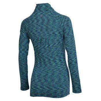 Autumn and Winter New Breathable Yoga Wear Long-Sleeved Sportswear Running Clothes Fitness Clothes - GREEN L