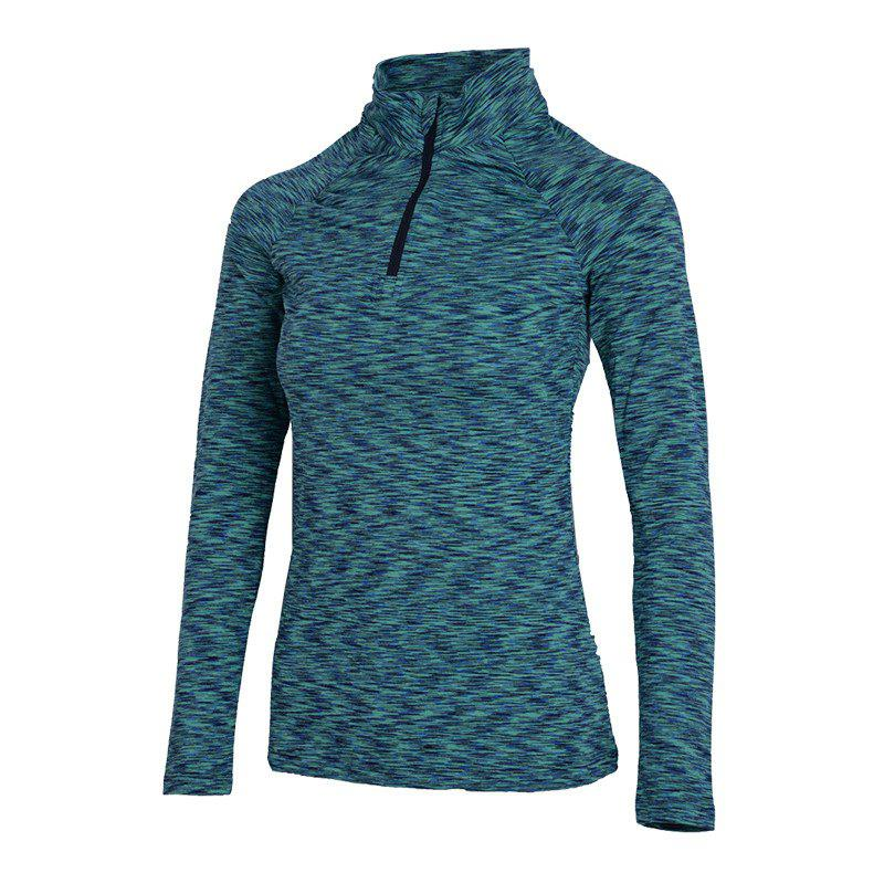 Autumn and Winter New Breathable Yoga Wear Long-Sleeved Sportswear Running Clothes Fitness Clothes - GREEN M