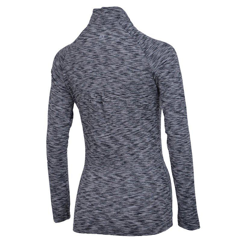 Autumn and Winter New Breathable Yoga Wear Long-Sleeved Sportswear Running Clothes Fitness Clothes - GRAY 2XL
