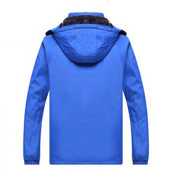 Autumn and Winter Plus Velvet Men'S Sportswear Suit Thick Warm Casual Outdoor Windbreaker - BLUE XL