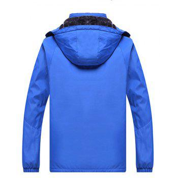 Autumn and Winter Plus Velvet Men'S Sportswear Suit Thick Warm Casual Outdoor Windbreaker - BLUE L