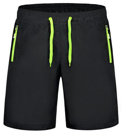 Men'S Stretch Large Size Speed Dry Clothes Sports and Leisure Shorts - GREEN L