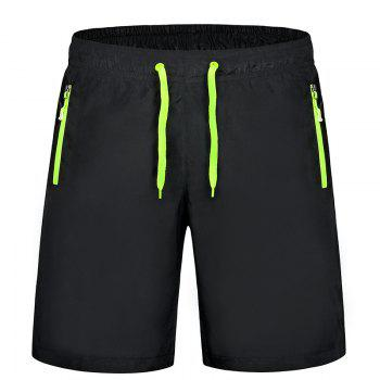 Men'S Stretch Large Size Speed Dry Clothes Sports and Leisure Shorts - GREEN GREEN