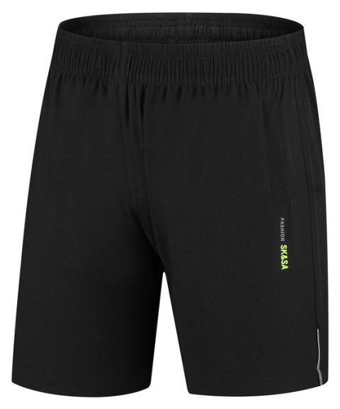 Men Five Minutes Quick-Drying Shorts Summer Cool Sports Shorts - BLACK XL