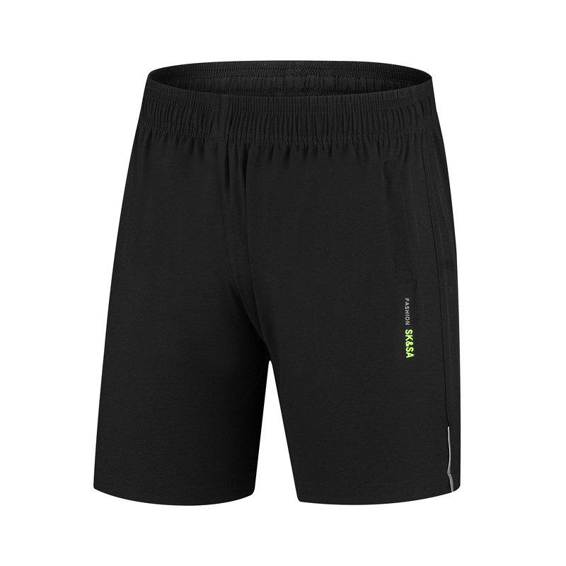 Men Five Minutes Quick-Drying Shorts Summer Cool Sports Shorts - BLACK 4XL