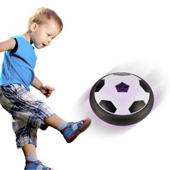 Electric Universal Light Hover Air Cushion Football Indoor  Soccer Ball - BLACK