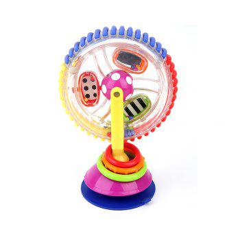 Three - Colored Revolving Ferris Wheel Baby Windmill Baby Dining Chair Trolley Suction Toy - COLORMIX COLORMIX
