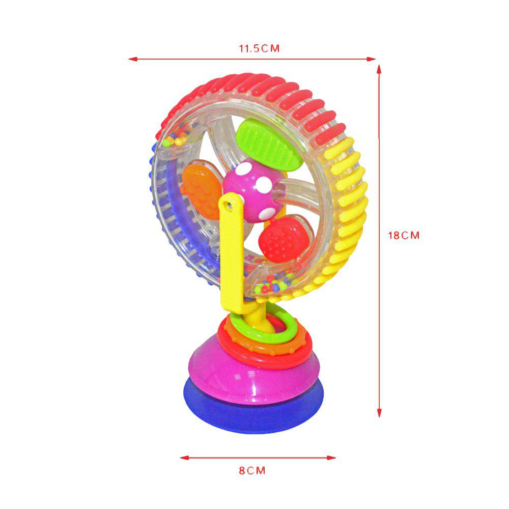 Three - Colored Revolving Ferris Wheel Baby Windmill Baby Dining Chair Trolley Suction Toy - COLORMIX