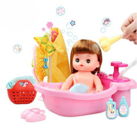 Simulation Doll Girl Baby Toy Happy Bubble Bath Suit - COLORFUL