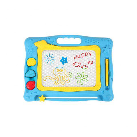 Children Color Drawing Board Magnetic Baby Graffiti Chalkboard - BLUE