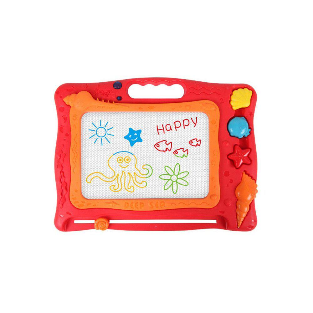 Children Color Drawing Board Magnetic Baby Graffiti Chalkboard - RED