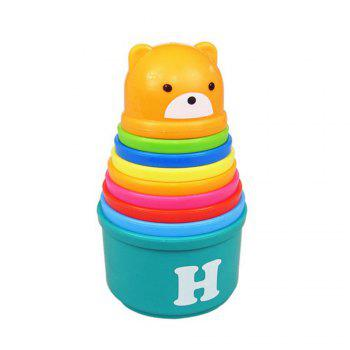 Rainbow Bear Is Interesting in Folding Cup Children Wisdom Early Teaching Toys - COLORFUL COLORFUL