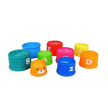 Rainbow Bear Is Interesting in Folding Cup Children Wisdom Early Teaching Toys - COLORFUL