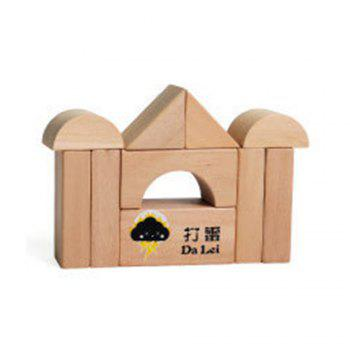 Large Wooden Block of Wooden Blocks for Children Early Education -  multicolor
