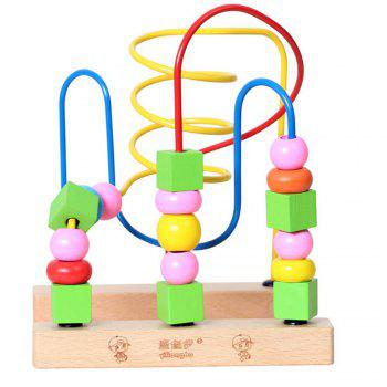 Wooden Children Beaded Toys for Early Childhood Toys to Learn the Color of educational Toys - COLORMIX