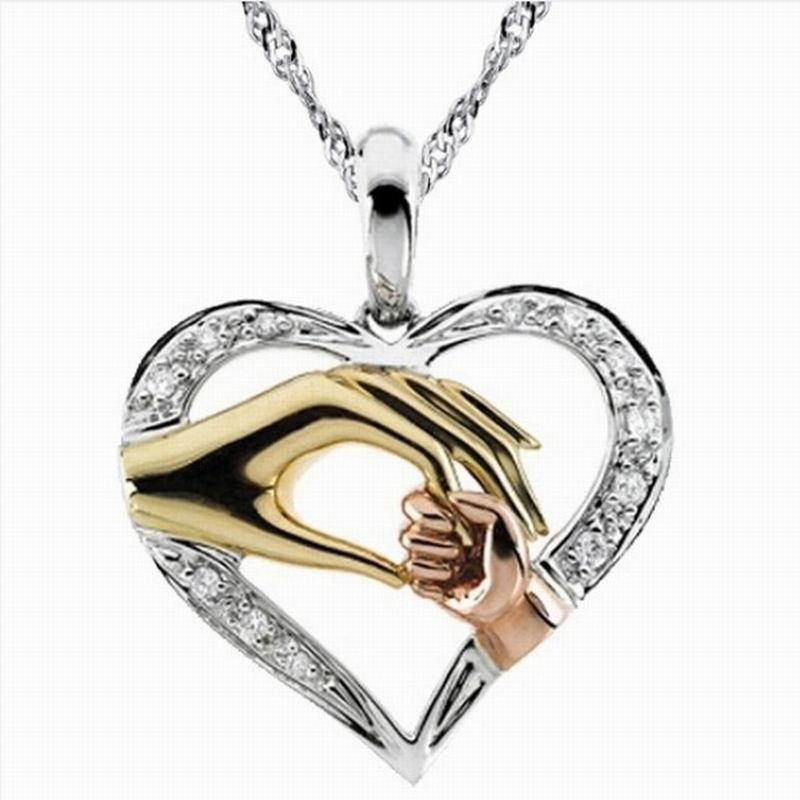 Real Pure Sterling Silver Mother and Child Hand In Hand Pendant Necklace Gift for Mother Daughter Sister Grandmother Friends Jewelry corporate real estate management in tanzania