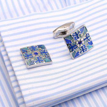 High Quality French Shirt Cufflinks Diamond Cuffs Snowflake Cuffs Male Dress Buttons - SILVER
