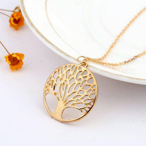 925 Sterling Silverclassic Tree of Life Pendant Necklace Chain Gift - GOLD