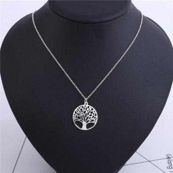 925 Sterling Silverclassic Tree of Life Pendant Necklace Chain Gift -  SILVER