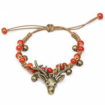 Deer Head Bracelet Female Sweet Sen Female Handmade Characteristics Bracelet National Style Fashion Retro Ceramic Jewelry - GREEN