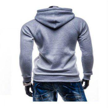 Spring and Autumn Hooded Head Men'S Leisure Sweater Coat - BLUE M