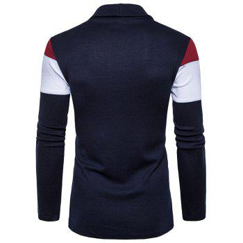 New Men'S Fashion Color Turtleneck Knitted Sweater - CADETBLUE L