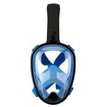 Full Face Snorkel Mask 180DEGREES Panoramic View Swimming Goggles with Anti-Fog Anti-Leak Anti-Vertigo Technology
