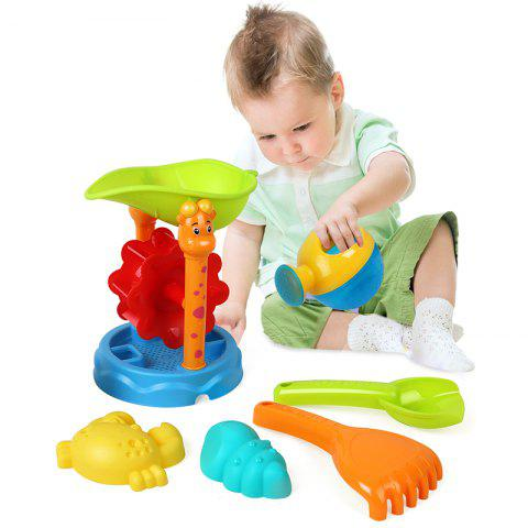 Sandy Beach Swimming Bucket Toy Six Set - COLORMIX