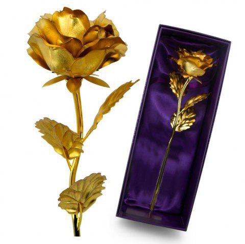 Valentine's Day Personalized Unique Gifts Artificial Forever Love Rose - GOLDEN