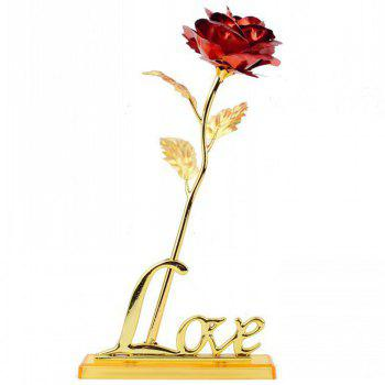 Annaversary Gifts for Her Wife Girlfriend Mother Personalized Unique Gifts Artificial Forever Love Rose with Bracket - RED RED
