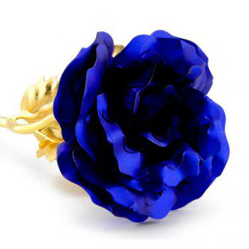 Annaversary Gifts for Her Wife Girlfriend Mother Personalized Unique Gifts Artificial Forever Love Rose with Bracket -  BLUE