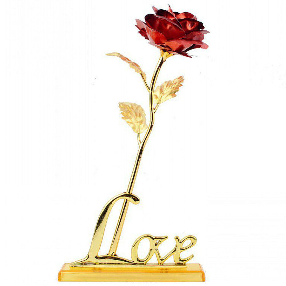 Annaversary Gifts for Her Wife Girlfriend Mother Personalized Unique Gifts Artificial Forever Love Rose with Bracket - RED